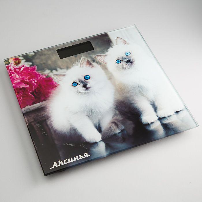 Напольные весы Аксинья КС-6003 Пушистые котята, электронные, мультиколор весы напольные аксинья кс 6005 рассвет