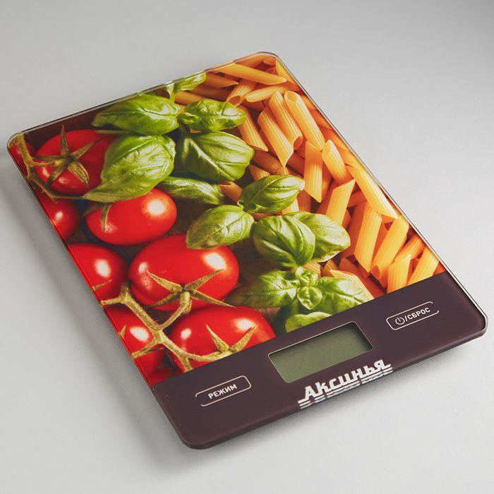 Кухонные весы Аксинья КС-6500 Итальянская кухня, электронные, мультиколор весы напольные аксинья кс 6005 рассвет
