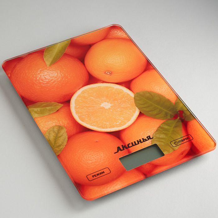 Кухонные весы Аксинья КС-6501 Цитрус, электронные, мультиколор весы напольные аксинья кс 6005 рассвет