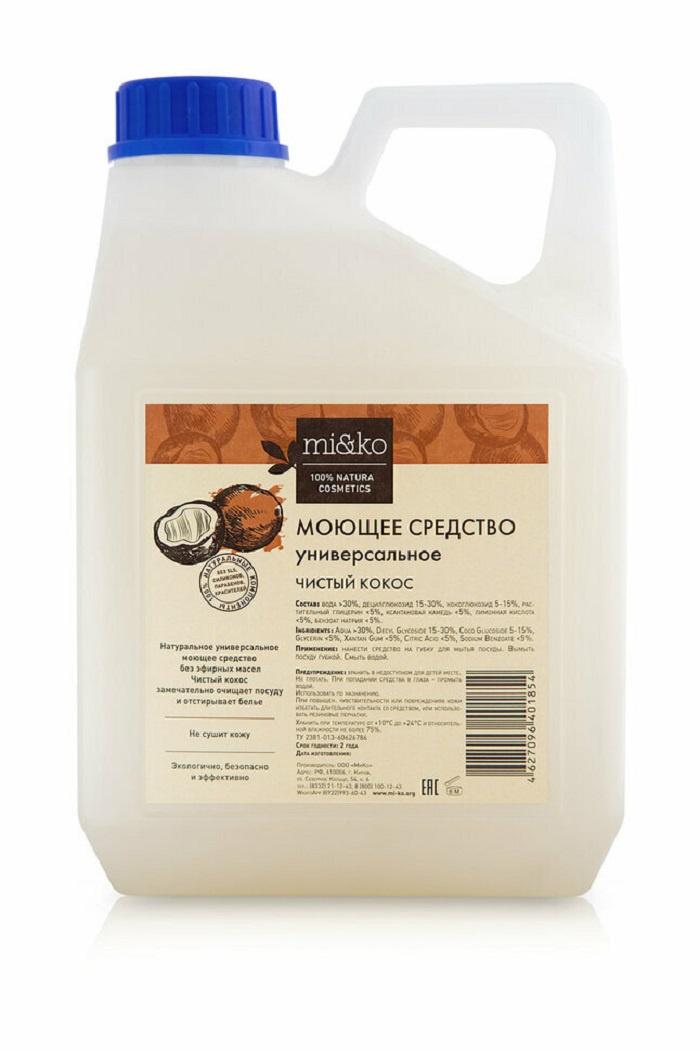 Средство для мытья посуды Mi&ko универсальное Чистый кокос 4 л сменный блок цена