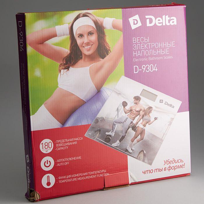 Напольные весы Delta D-9304 Тренировка, электронные, мультиколор Delta