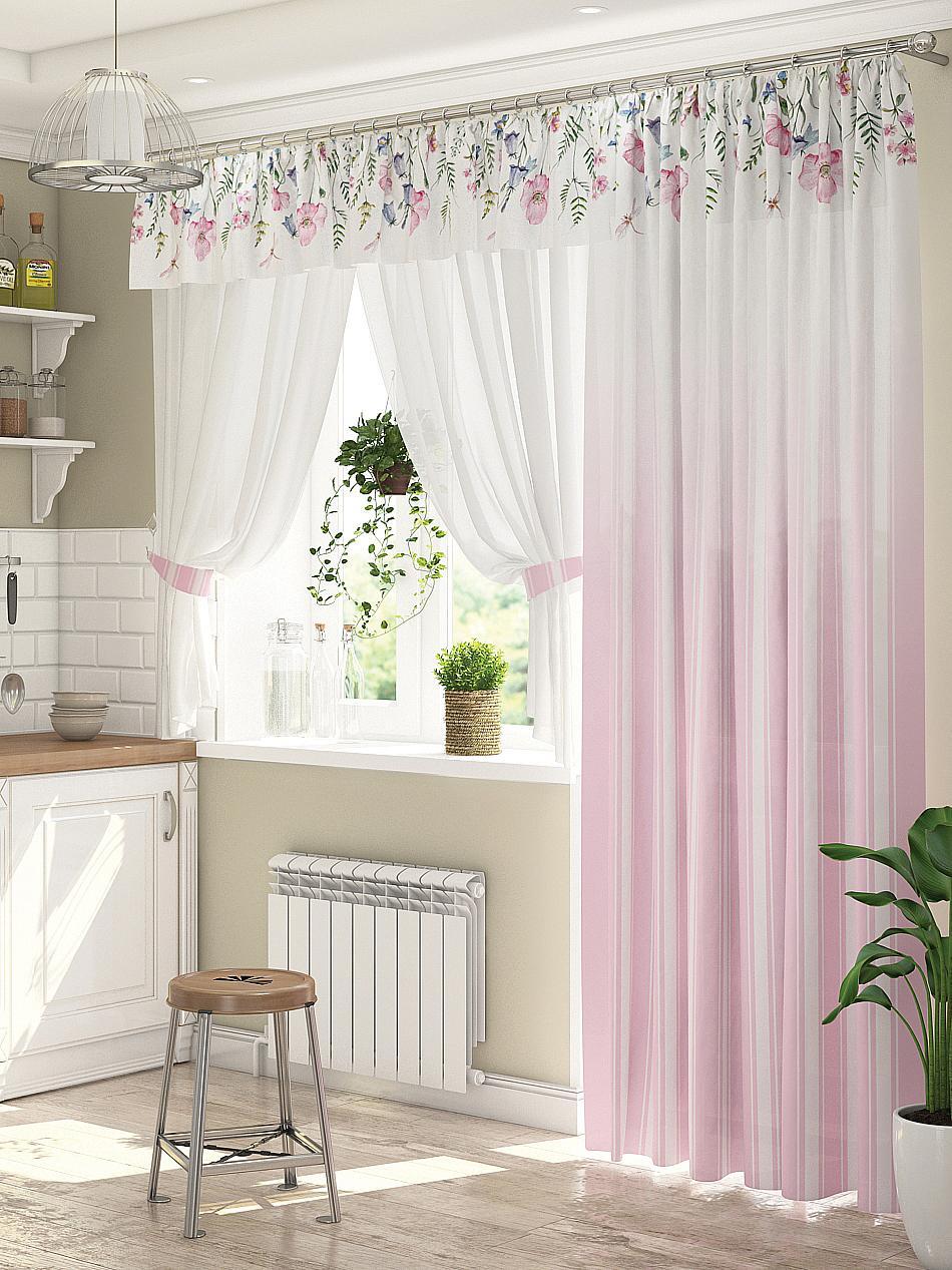шторы на кухню окно с дверью фото комплекс