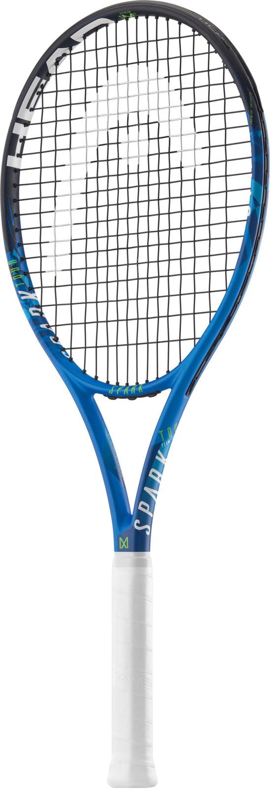 Ракетка теннисная Head MX Spark Tour, синий, ручка 2 лян цзянь бадминтон ракетка давление точка киль ручной работы теннисная ракетка пот полосатая рыба полюс ручка кожа синий 1
