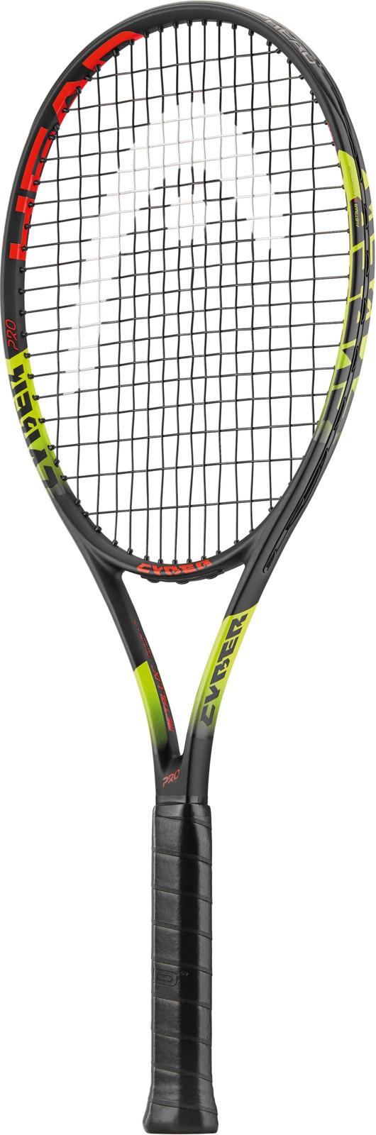 Ракетка теннисная Head MX Cyber Pro, черный, желтый, ручка 2 теннисная ракетка prince 7t35
