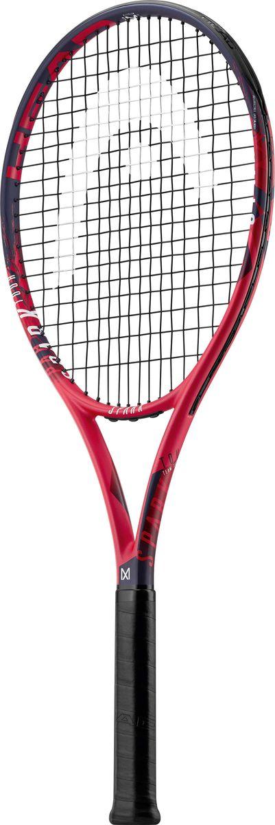 Ракетка теннисная Head MX Spark Tour, красный, ручка 2 лян цзянь бадминтон ракетка давление точка киль ручной работы теннисная ракетка пот полосатая рыба полюс ручка кожа синий 1