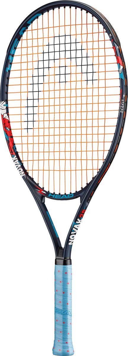 Ракетка теннисная Head Novak 25, синий, ручка 7 ракетка теннисная для взрослых drive team