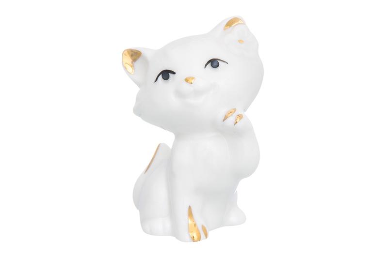 Фигурка декоративная 5х4х7 см Elan Gallery Кошка - мечтательница белая с золотом фигурка elan gallery кошка мечтательница 5 4 7 см