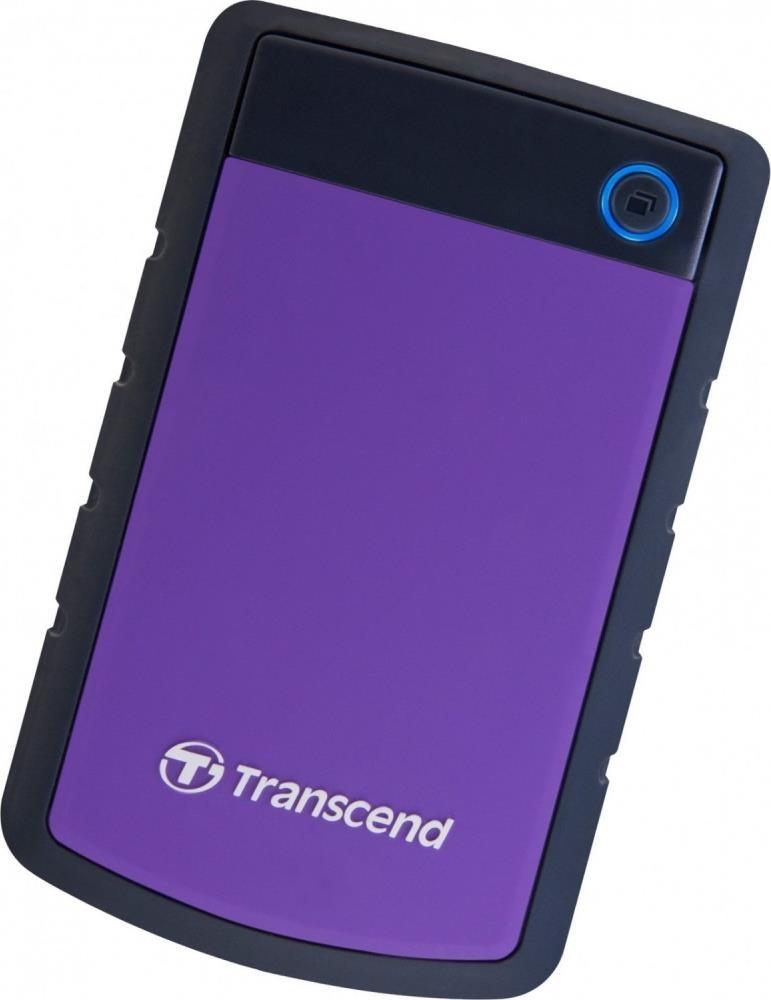 Фото - Портативный внешний жесткий диск Transcend HDD 1 TB H3, 2.5, USB 3.0, фиолетовый transcend storejet 25h3 blue 1tb 2 5 синий