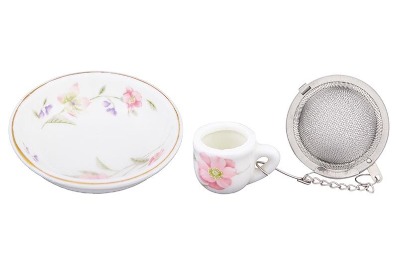 Ситечко для заварки Elan Gallery Диана, белый, розовый ситечко для заваривания чая elan gallery лимон 18 5 5 2 см