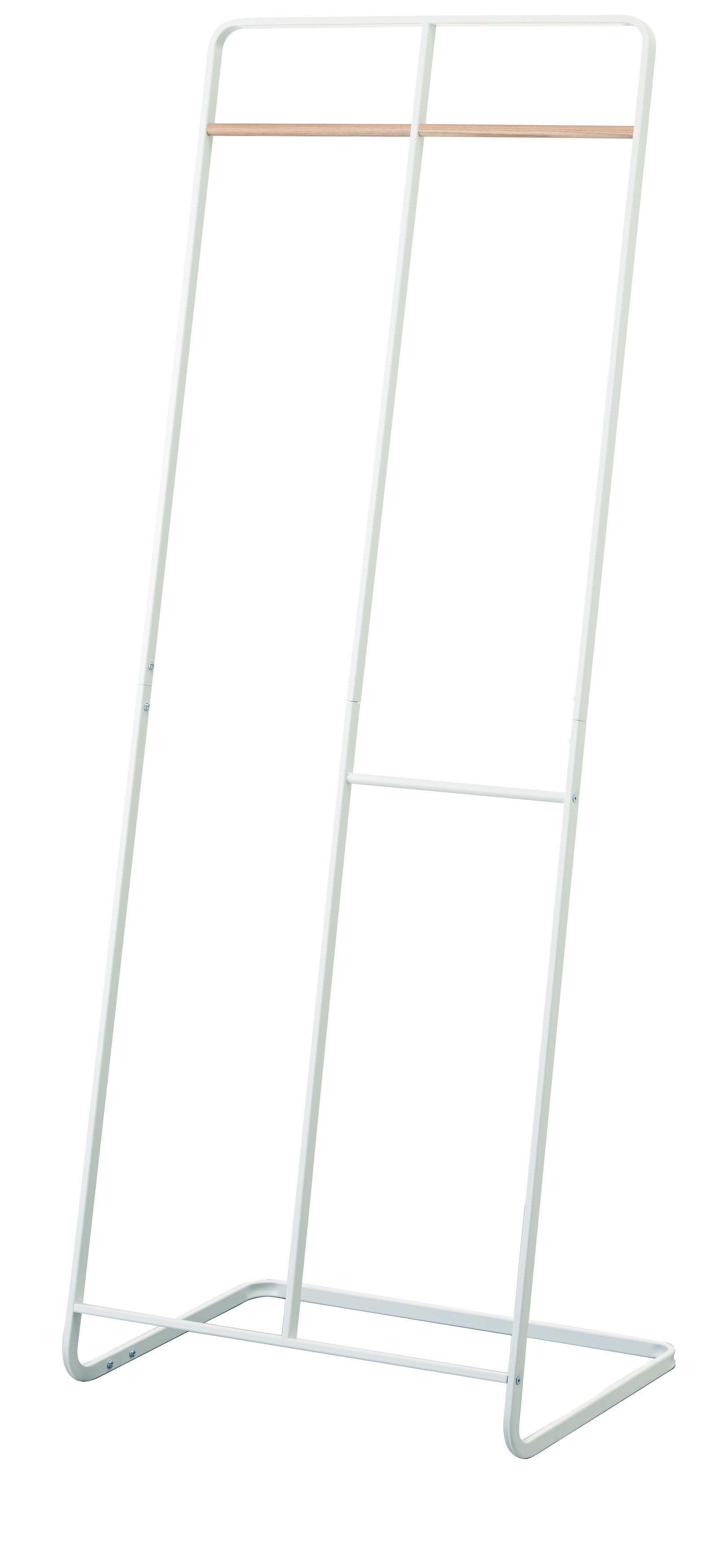 Вешалка напольная Yamazaki TOWER COAT HANGER WIDE, белый2738Материал: Сталь, дерево. Длина 61, ширина 45, высота 163. Цвет: белый.