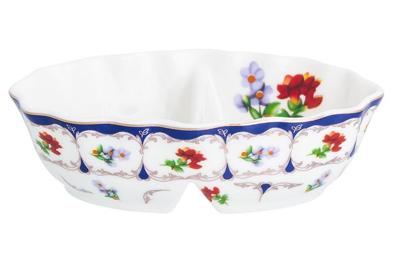 Банка для соли Elan Gallery Цветочек, белый, синий, красный солонка elan gallery цветочек 15 5 7 3 5 см 2 секции