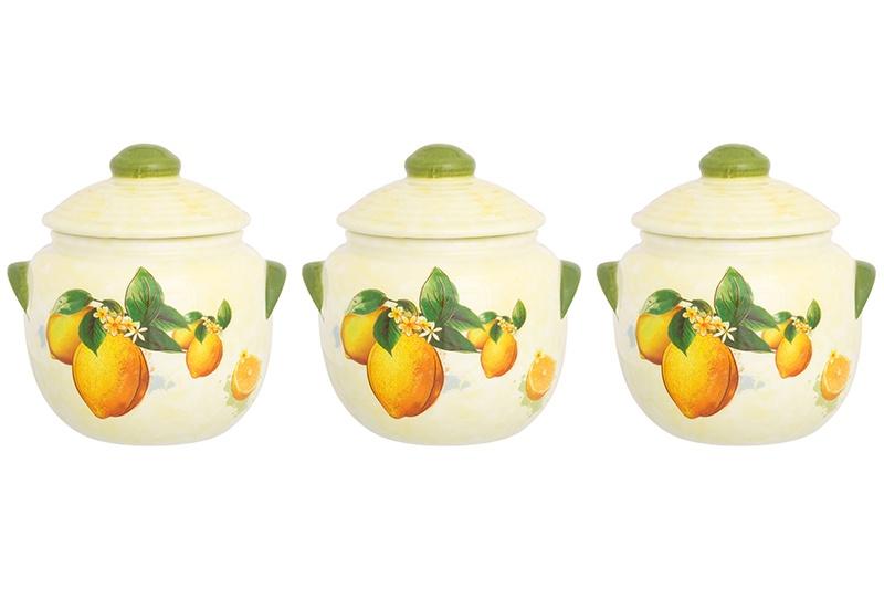 Универсальная емкость Elan Gallery Лимоны, бежевый, желтый