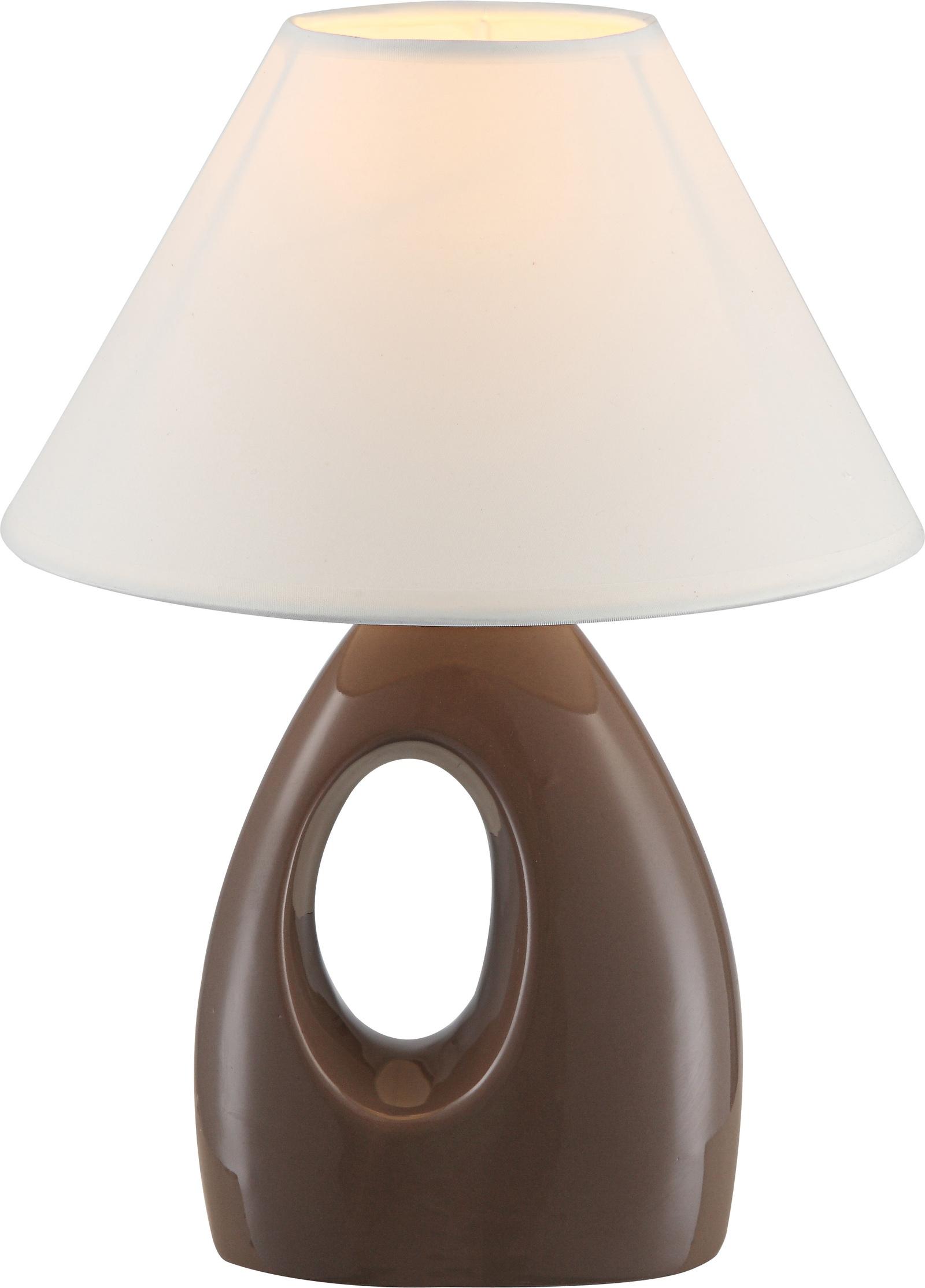 Настольный светильник Globo Sonja, коричневый teak house светильник настольный king