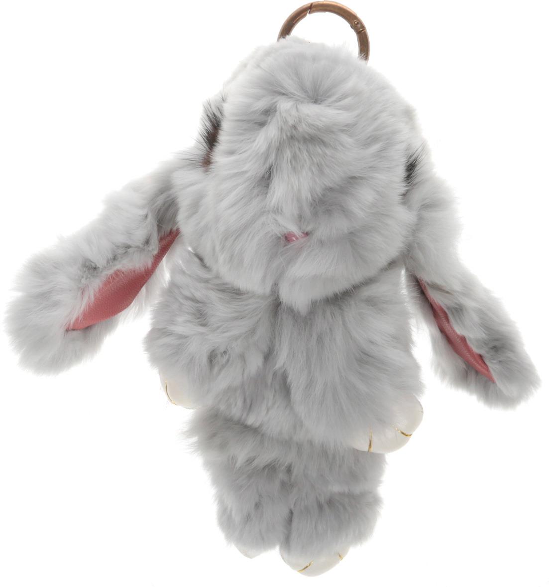 Vebtoy Брелок Пушистый кролик цвет серый БР-306 vebtoy брелок пушистый кролик цвет персиковый бр 305