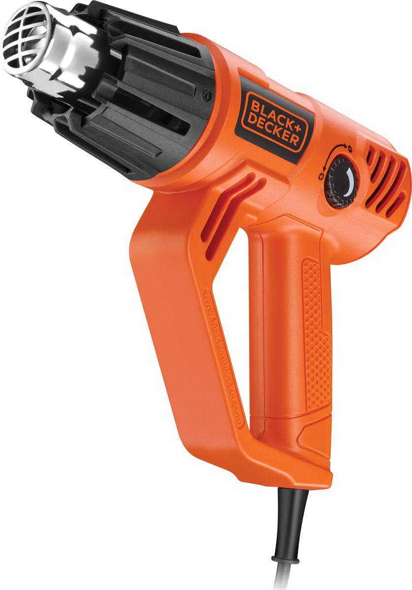 цена на Строительный фен Black & Decker KX2001-QS, оранжевый, черный