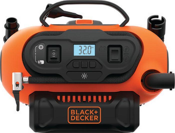 Компрессор 3 в 1 Black & Decker BDCINF18N, без аккумулятора, оранжевый, черный