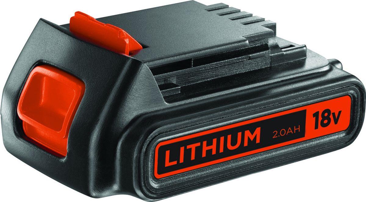 Фото - Аккумулятор для инструмента Black & Decker BL2018, 18 В, 2.0 Ач, серый, черный, оранжевый аккумулятор dexter 2 ач li ion 18 в для аккумуляторного инструмента