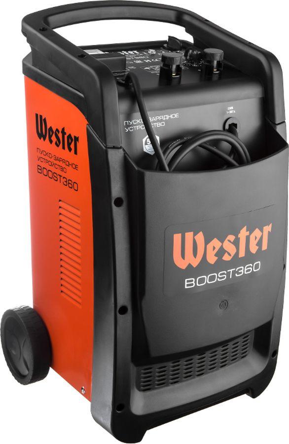 Пуско-зарядное устройство Wester BOOST360, оранжевый, черный устройство зарядное wester ch15