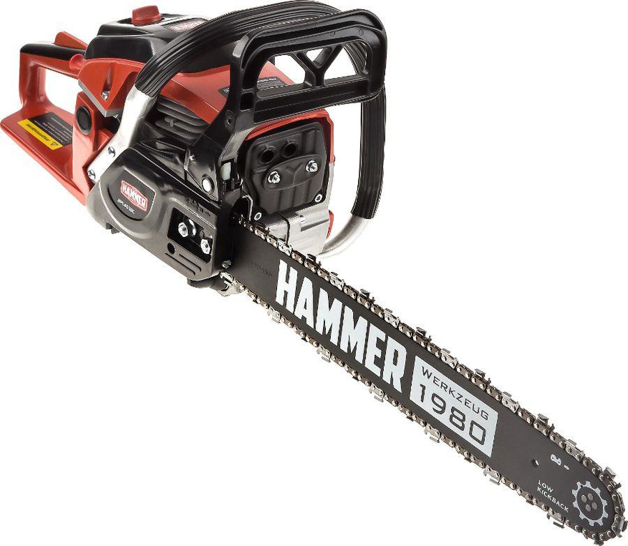 Бензопила Hammer BPL4518C, красный, черный насос ручной подкачки топлива