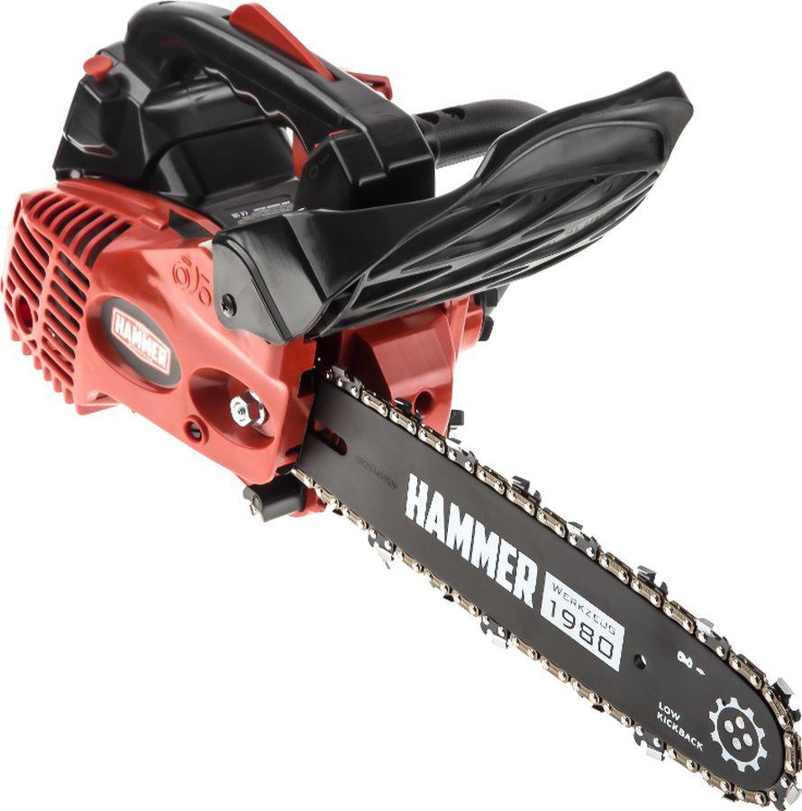 Бензопила Hammer BPL2512C, красный, черный насос ручной подкачки топлива