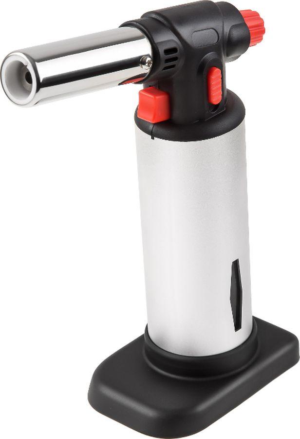Газовая горелка Wester GG02, с пьезоподжигом, красный, черный, серебристый