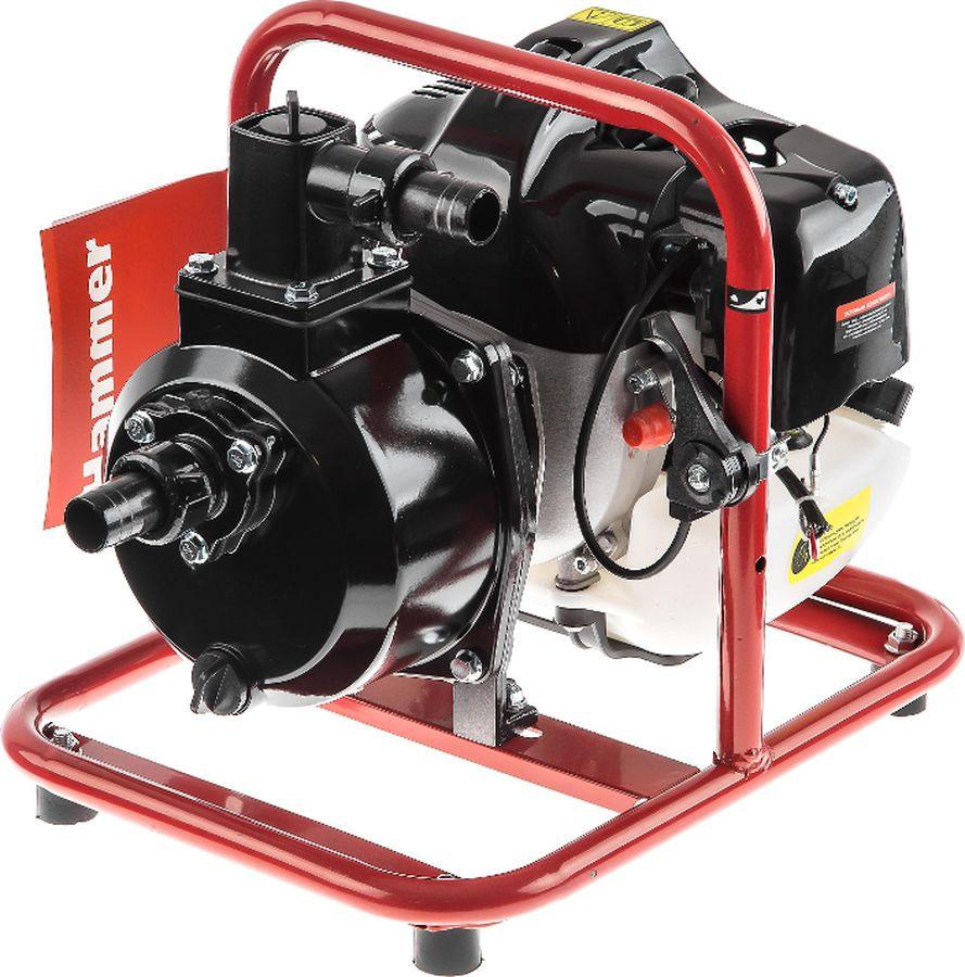 Мотопомпа Hammer Flex MTP165, черный, красный мотопомпа hammer flex mtp285 2 4 х такт 3 6 л с 500 л мин