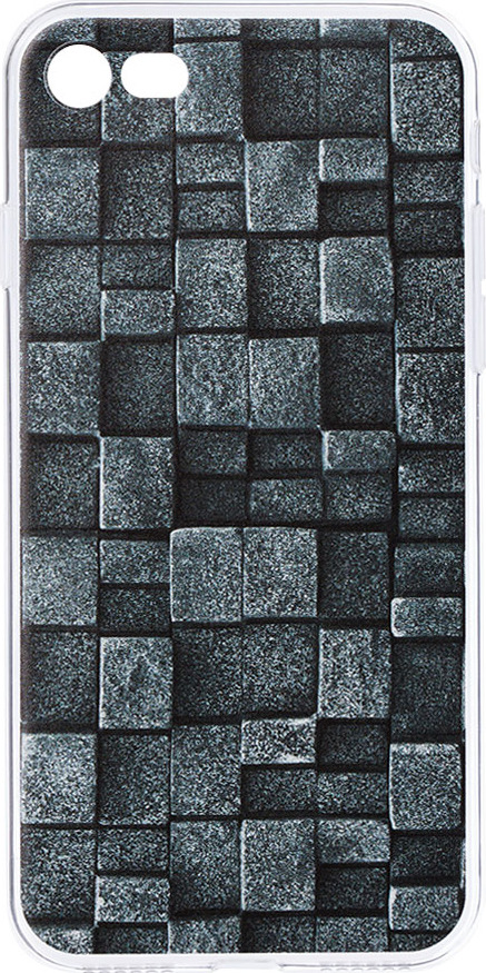 Чехол AnyCase Art Case для Apple iPhone 7/8, Total Black 1, прозрачный