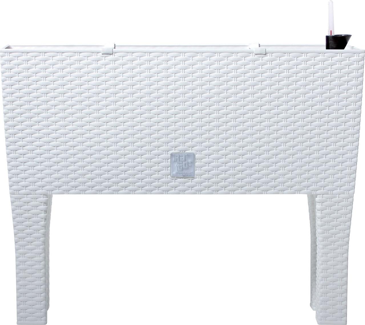 Балконный ящик Prosperplast Ротанг, на ножках, DRTC600H 449, белый, 60 х 25 х 46 см ящик пластиковый ротанг 46 л