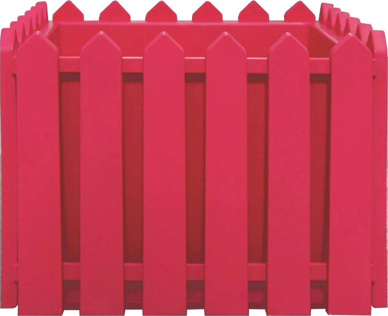 Кашпо Элластик-Пласт Лардо, ЭП 205852, красный, 28 х 28 х 22 см цена