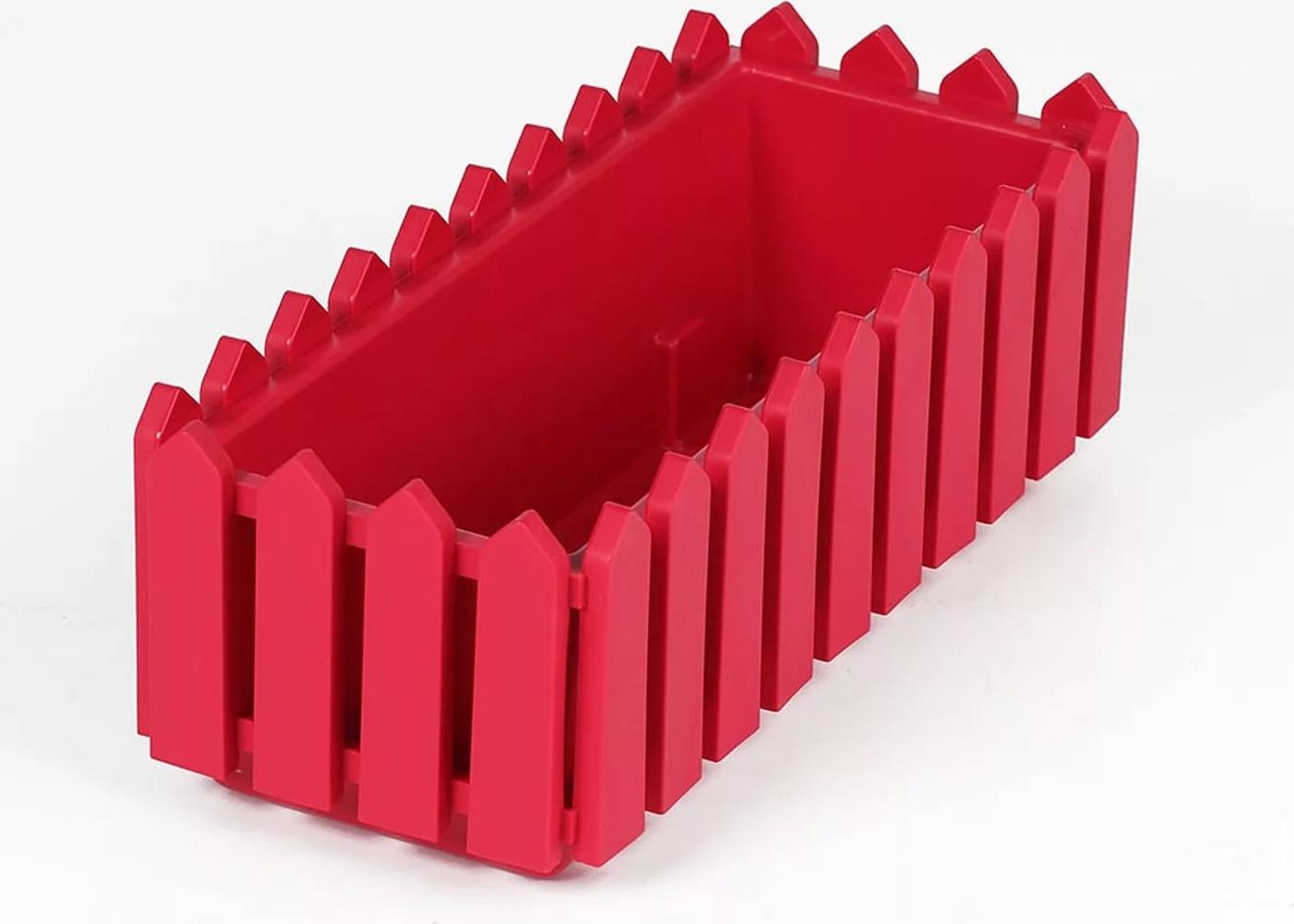 Балконный ящик Элластик-Пласт Лардо, с поддоном, ЭП 012931, красный, 47 х 19,2 х 16 см цена