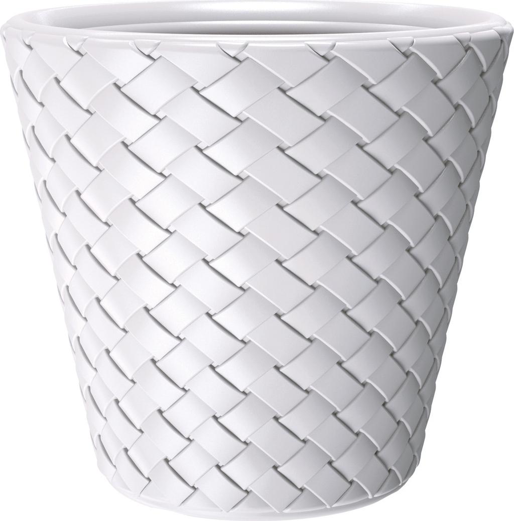 Кашпо Prosperplast Matuba, DBMA350 S449, белый, 35 х 35 х 33 смDBMA350 S449Кашпо пластиковое для комнатных растений. Используется в декоративных целях .Материал изготовления обладает хорошей прочностью, устойчив к механическим повреждениям и выгоранию, не пропускает воду. 35 x 35 x 32,4 см. Объем 19 л.