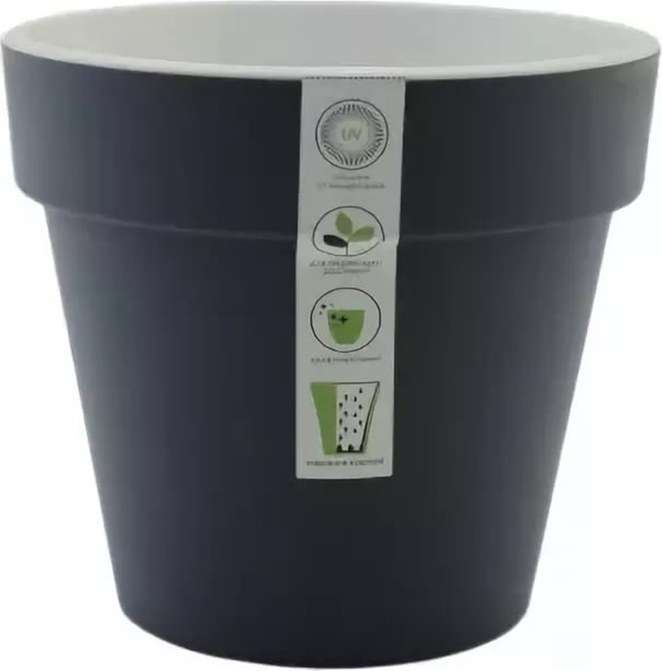 Горшок для цветов Ливингрин Протея, ЛН 980083, темно-серый, 20 х 20 х 18,5 смЛН 980083Кашпо для растений с внутренней съёмной вставкой-техническим горшком, который имеет отверстия-прорези и ножки которые создают пространство между наружным и внутренним горшком D-20 см H -18,5 см. Объем 3,7 л. Рекомендуем!