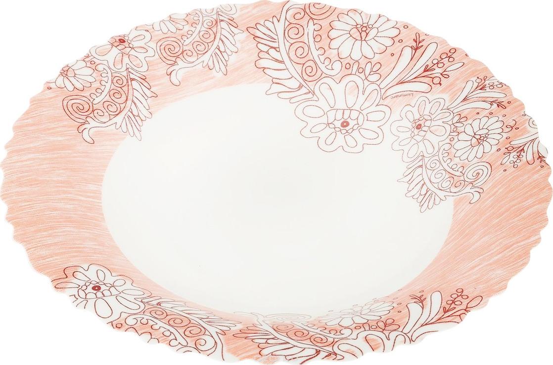 Тарелка глубокая Luminarc Минелли, J7034, розовый, диаметр 23 см тарелка глубокая luminarc ализэ перл n4836 белый диаметр 23 см