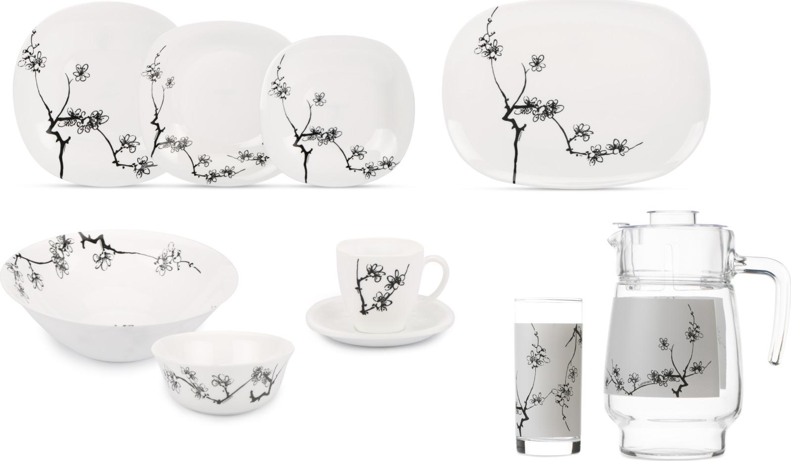 Набор столовой посуды Luminarc Карин Минг Блэк, N8588, черный набор столовой посуды luminarc нью карин n2955 белый черный