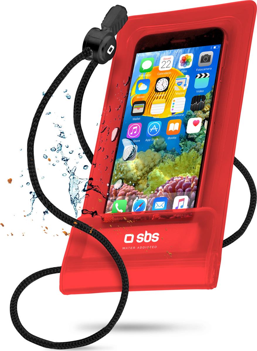 Чехол универсальный SBS для смартфонов до 5.5'', водонепроницаемый, красный удаленный доступ к веб камере