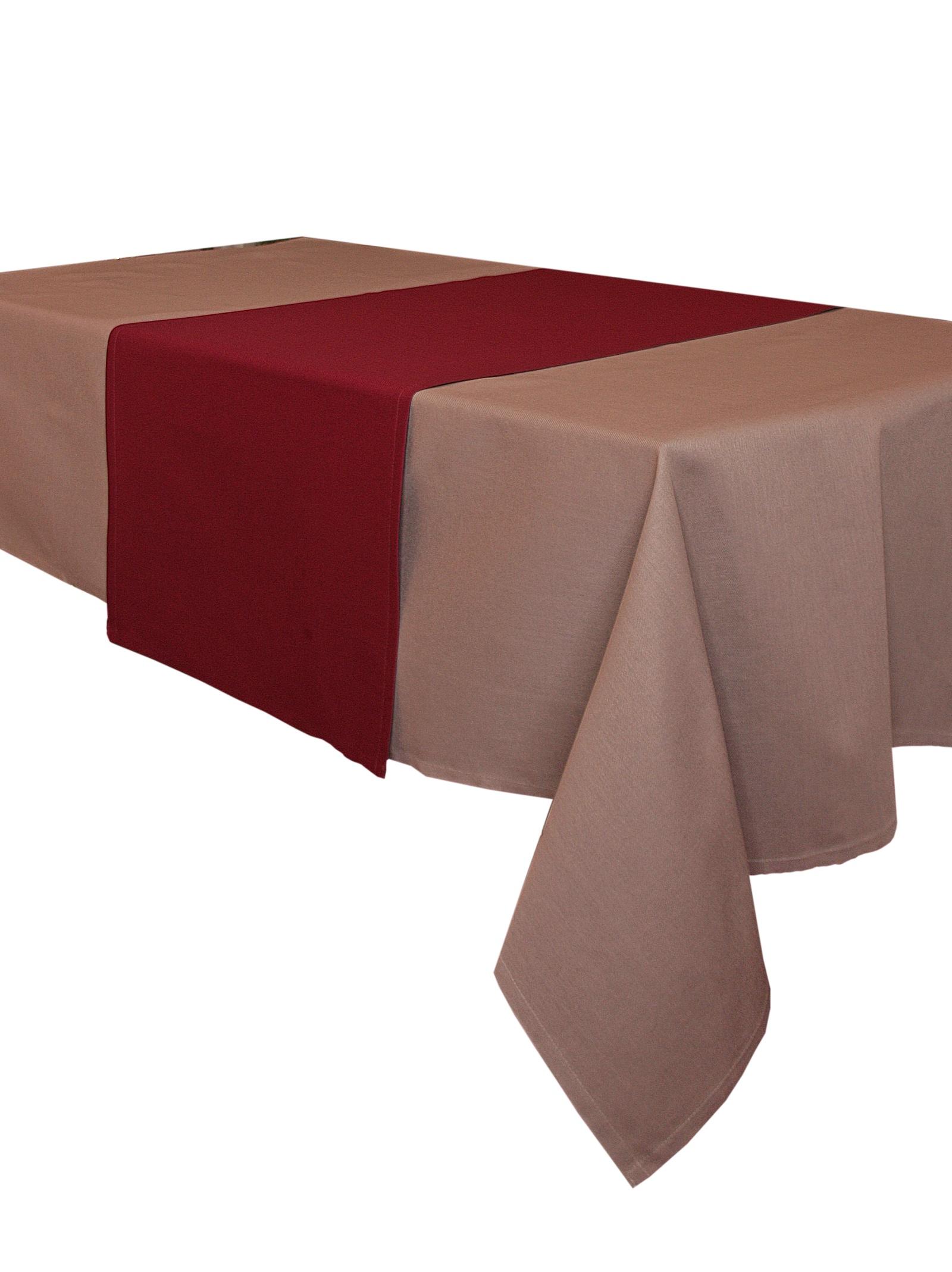 Дорожка для стола Naturel 45х150 Однотонная коллекция, бордовый дорожка для стола naturel 45х150 однотонная коллекция бежевый
