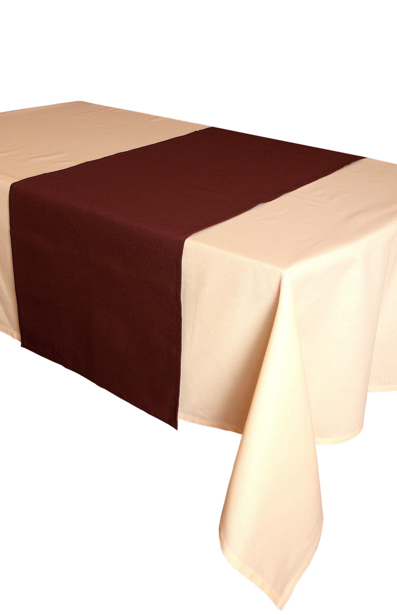 Дорожка для стола Naturel 45х150 Однотонная коллекция, коричневый дорожка для стола naturel 45х150 однотонная коллекция бежевый