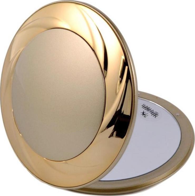 Зеркало косметическое Weisen настольное, с 7-кратным увеличением, T-1933, золотой зеркало косметическое jardin d ete со стразами роза сталь стекло d64 мм 947864