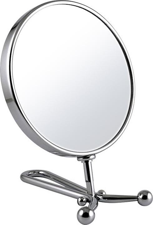 Зеркало косметическое Weisen косметическое, настольное, с 7-кратным увеличением, B 243 C, серебристый зеркало косметическое jardin d ete со стразами роза сталь стекло d64 мм 947864
