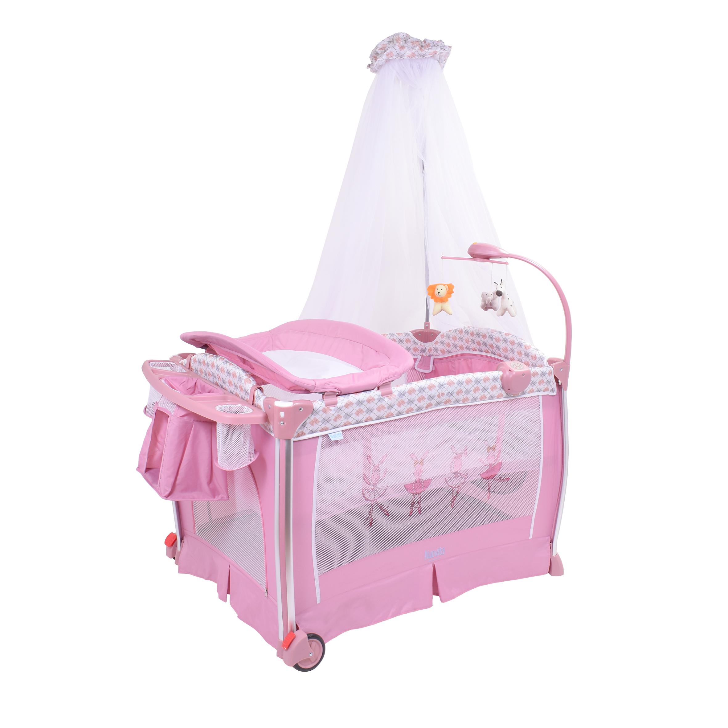 Детская кровать-манеж Nuovita Fortezza (Rosa/Розовый)