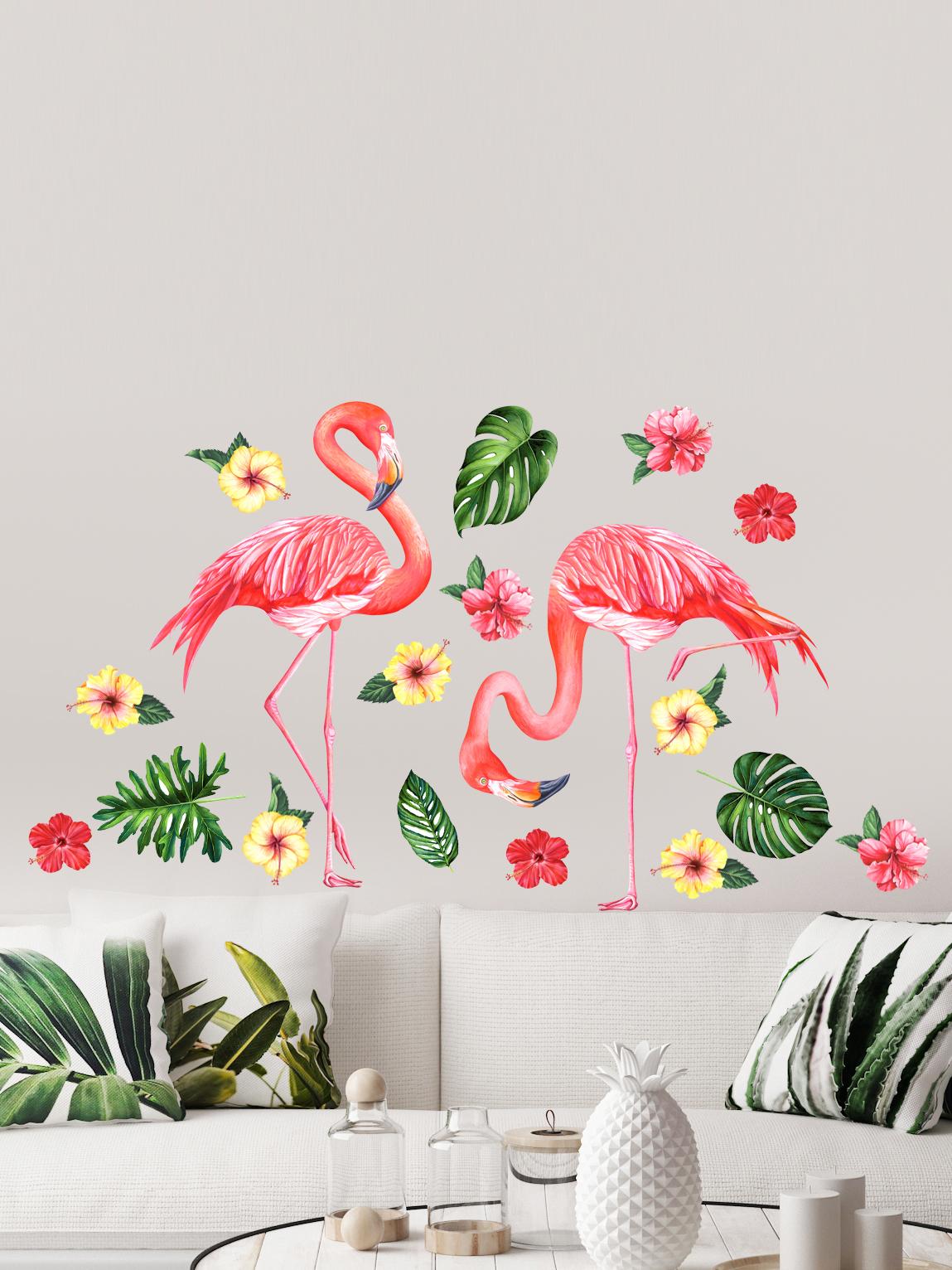 """Наклейки Galerys IS014, коралловый, желтый, зеленыйIS014Украсьте свой интерьер изображениями удивительных и изящных фламинго, красноречиво именуемых """"птицами утренней зари"""". Их утонченная красота завораживает взгляд, гармоничные изгибы и движения неподражаемы, а цвет - великолепен! Такая композиция станет не только источником вдохновения, но и подчеркнёт ваш изысканный вкус.Наклейки добавят уюта и ярких красок в любом помещении. Матовая поверхность пленки уменьшает блики и делает изображение более четким. Все изображения вырезаны по контуру."""