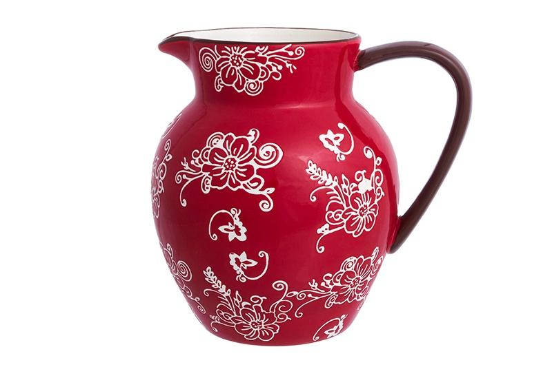 Кувшин Elan Gallery Цветочная симфония, красный блюдо для запекания elan gallery цветочная симфония цвет красный 1 6 л