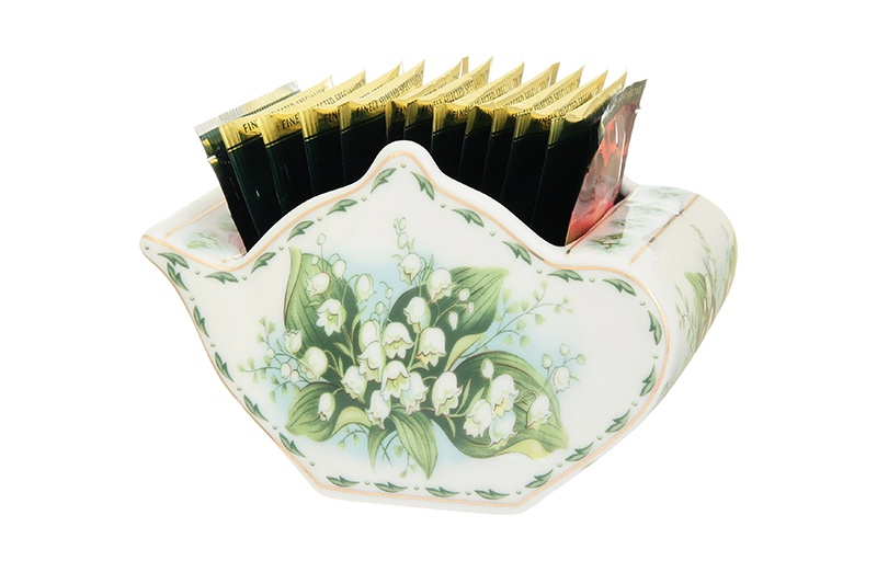 Подставка для чайных пакетиков Elan Gallery Ландыши, белый, зеленый стоимость