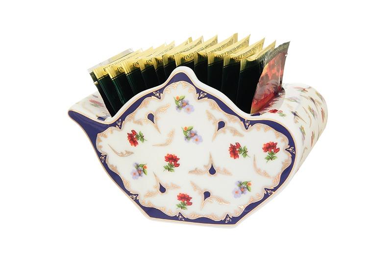 Подставка для чайных пакетиков Elan Gallery Цветочек, белый, синий, красный стоимость