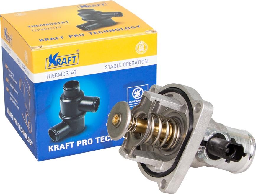 Термостат Kraft, для Chevrolet Cruze (09-)/Aveo T255 (08-) lunda black leather car рулевое колесо для chevrolet cruze 2009 2014 aveo 2011 2014 holden cruze 2010