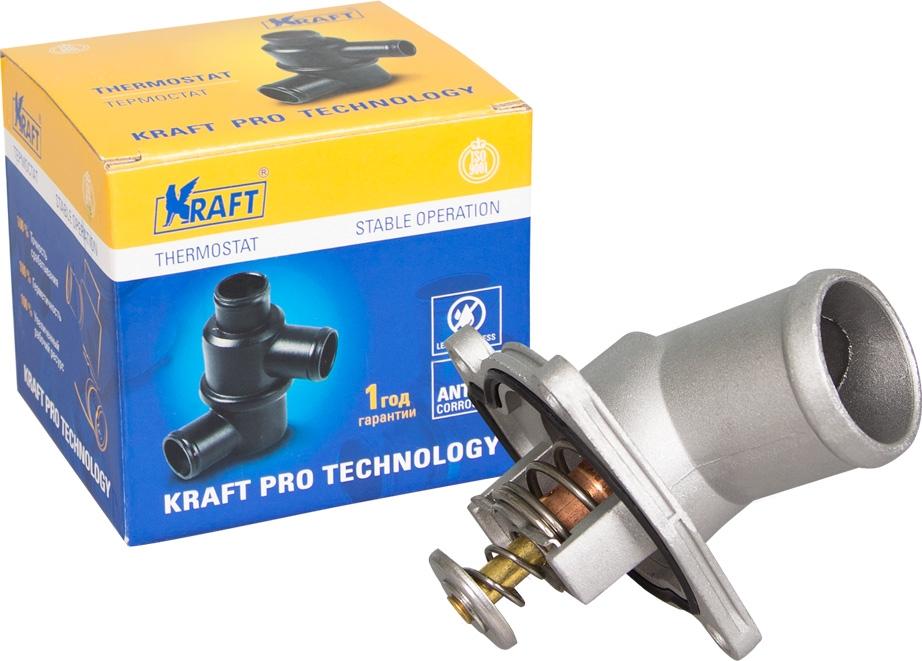 Термостат Kraft, для Opel Astra H (04-)/Corsa D (04-) 1.0i/1.2i/1.4i (92C) запчасти opel corsa d