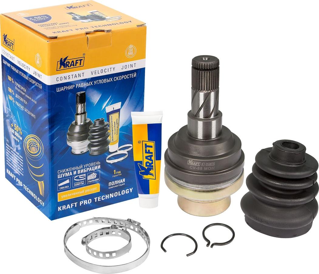 Шарнир внутренний Kraft, для Daewoo Nexia (95-)/Lanos (97-)/Chevrolet Lacetti (04-)/Nubira (02-)/Aveo (03-) 1.2/1.4/1.5/1.6 MT