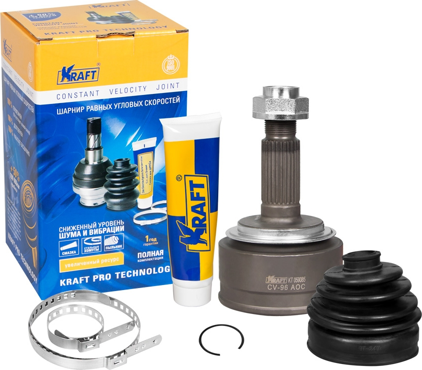 ШРУС наружный Kraft, для Honda Accord VII 2.4 (03-08), CR-V II 2.0 (01-07) MT/ATKT 059085ШРУС наружный Honda Accord VII 2.4 (03-08), CR-V II 2.0 (01-07) MT/AT