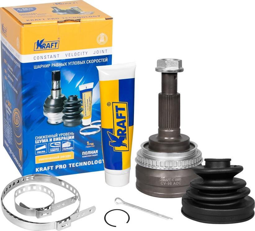 ШРУС наружный Kraft, для Lexus ES 3.0 (91-01)/Toyota Camry 3.0 (91-96), Mark II 2.5 (96-01) ABS