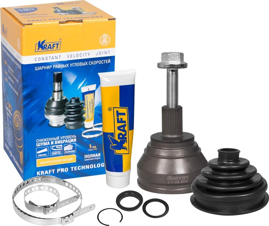 ШРУС наружный Kraft, для Audi A3 1.4-2.0 (04-13), Q3 1.4-2.0 (11-), TT 2.0 (14-)/Seat Leon 1.8-2.0 (05-12)/Scoda Octavia 1.4-2.0 (04-13), Superb 1.8-2.0 (08-15), Yeti 1.8-2.0 (09-)/VW Caddy